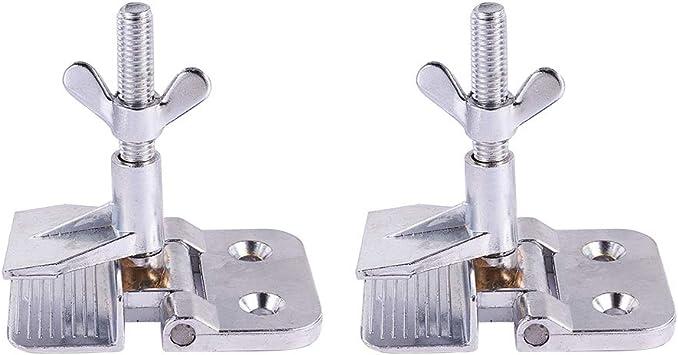 Serigraf/ía herramienta DIY Hobby paquete de 2 Abrazadera de bisagra de metal mariposa