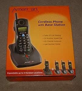 American Telecom ampliable teléfono inalámbrico con estación base: Amazon.es: Electrónica