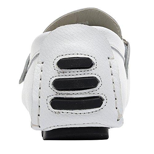 Zapatos Blanco Comodidad Coche Hombre Conducción Mocasines Ponerse rismart zqgAfaf