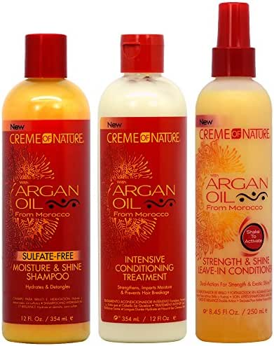 Creme of Nature Argan Oil Shampoo + Intensive Treatment + Strength and Shine Leave-in Treamtment