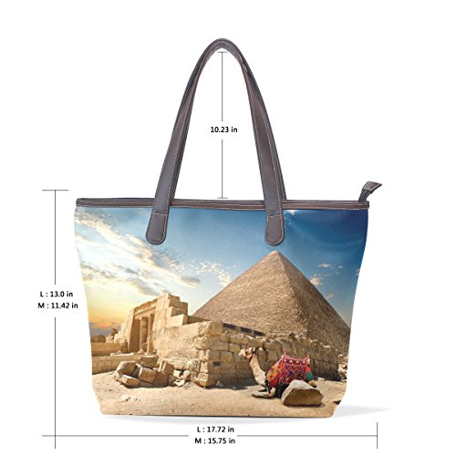 Robin Mask Glasses (Egyptian Sphinx And Pyramid Women's Fashion Large Tote Ladies Handbag Shoulder Bag)