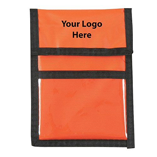 Badge Promotional Holder (Nylon Neck Wallet Badge Holder - 100 Quantity - 1.99 Each - PROMOTIONAL PRODUCT/BULK/BRANDED with YOUR LOGO/CUSTOMIZED)