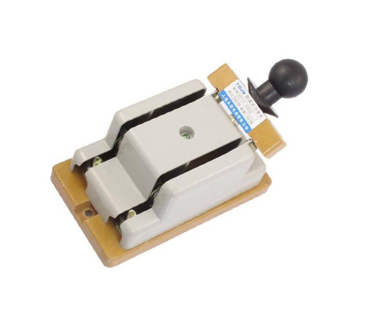 380V 100 Amp Double Pole Electric Brake Safety Knife Switch,Gray