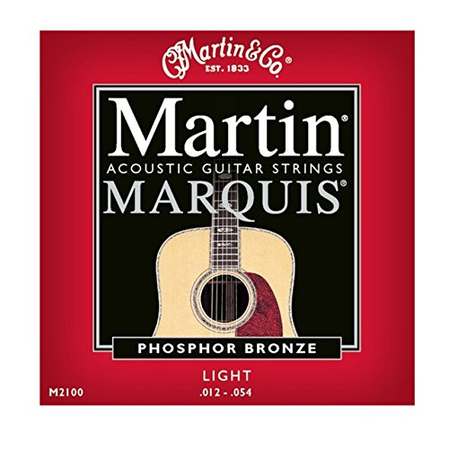 Martin M2100 Marquis Phosphor Bronze Acoustic Strings, Light