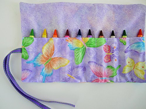 Craft Goody Holder - butterfly crayon roll party favors crayon holder crayon wallet