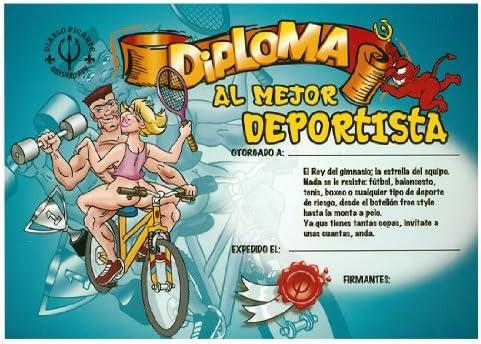 DIPLOMA AL MEJOR DEPORTISTA: Amazon.es: Hogar