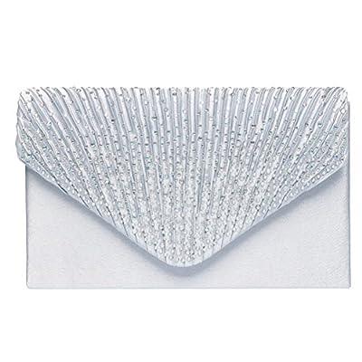 Fashion Road Womens Satin Envelope Evening Clutch Purse Wedding Party Prom Handbags