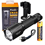 Fenix Tk25 IR (TK25IR) 1000 Lumen LED 3000mW 850nm Infrared Tactical Flashlight w/ Fenix USB Rechargeable Battery & LumenTac Charging Cable
