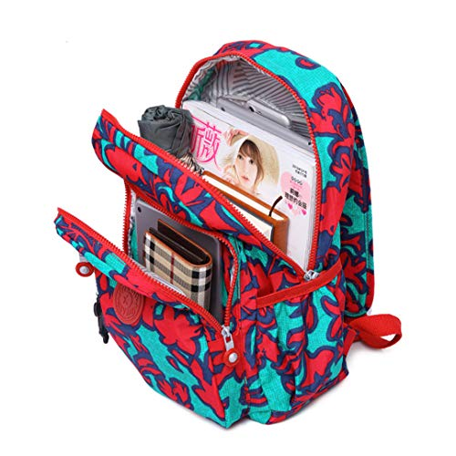 Print 20 Tgt1318 Teen Floral Girl Backpack School Nylon qSxwztw06