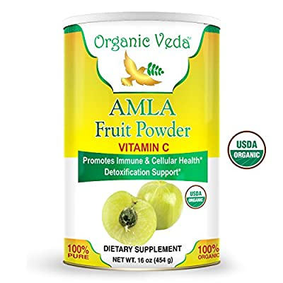 Organic Amla Fruit Powder - 1 Lb. ? USDA Certified Organic ? 100% Pure and Natural Super Food Supplement. Non GMO, Gluten FREE. All Natural!