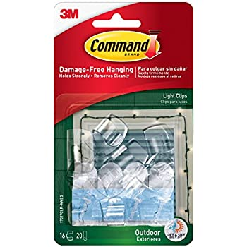 command outdoor light clips clear 16 clip 4 pack 64 - Outdoor Christmas Light Hooks