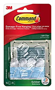 Amazon command outdoor light clips clear 16 clip 4 pack 64 command outdoor light clips clear 16 clip 4 pack 64 aloadofball Choice Image