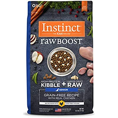 Instinct Raw Boost Senior Grain Free Recipe Natural Dry Dog Food