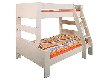 Letto a castello matrimoniale Kids white wash: Amazon.it: Prima infanzia