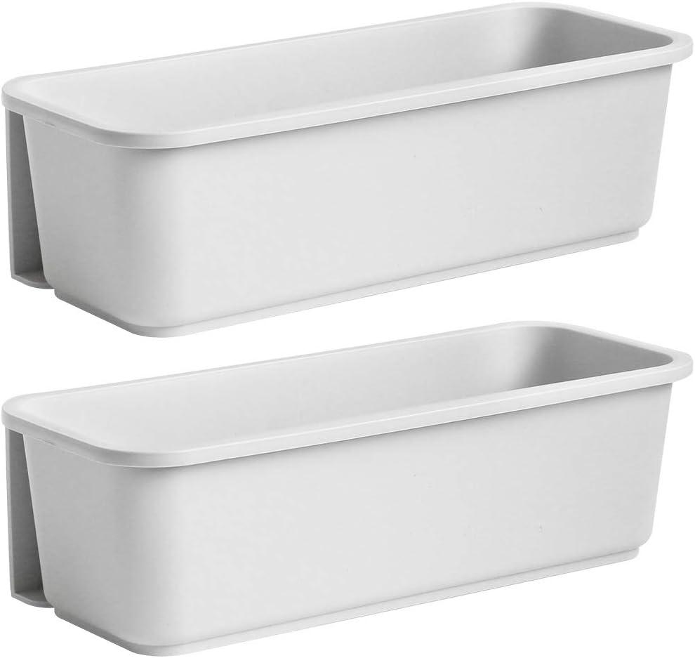 Under Sink Organizer, Sliding Pull-Out Base Cabinet Storage, Door Storage Trays, Wall Mount Kitchen Bathroom Storage Organizer Holder, 2 PACK (Gray)