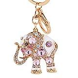 Best Keychain For Key Women - Aibearty Fashionable Diamond Crystal Rhinestone Elephant Keychain Bag Review