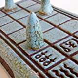 "Senet Premium Board Game Set Handmade - Ceramic Vintage Decorative Artwork, The Collectors' or Game Lovers Choice 32cm (12.6"")"