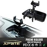 Xprite Adjustable Dash Multi-Mount Phone Holder Kit For Jeep Wrangler JK JKU 2007-2016