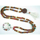 Rudraksha Mala Beads Nine Planets Navgraha Prayer Meditation Yoga Healing Jewelry Empower Good Effects
