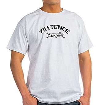 CafePress Patience Grasshopper Ash Grey T-Shirt - 100% Cotton T-Shirt