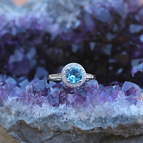 Lab Created White Opal & Cz .925 Sterling Silver Ring size 7 by Oxford Diamond Co (Image #6)