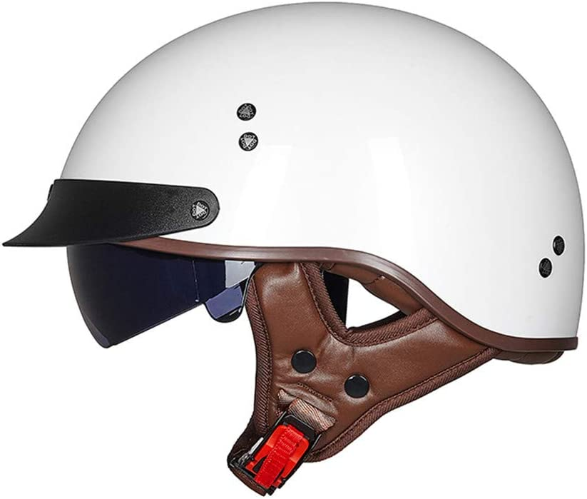 Dot Certificado Incluir Visera Gafas,S Lucky 13 55~56cm la Motocicleta Vespa Media Cascos Mofa Crucero Bobber del Motorista de Moto Chopper Jet Casco EDK Retro Cara Abierta Casco de la Moto