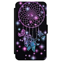 iPhone 8 Plus Case, Midnight Dream Catcher Phone Case by Casechimp® | Premium Leather Flip Wallet Card Holder Slots | Lotus Dream Catcher Dormeo Teepee Love