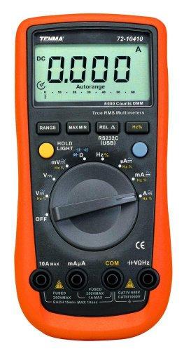 Professional Digital Multimeter, 6000 Count, True RMS, Auto Range, 3.75 Digit (Multimeter True Rms Professional)
