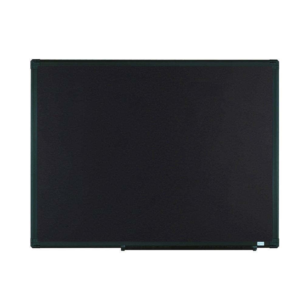 Lockways Magnetic Chalkboard Black Board - Bulletin Blackboard 48 x 36, 4 x 3 Black Aluminium Frame Board for Home, School, Office, Black Aluminum Marker Tray, 8 Magnets