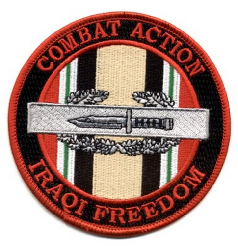 (Combat Action Badge Operation Iraqi Freedom Patch )