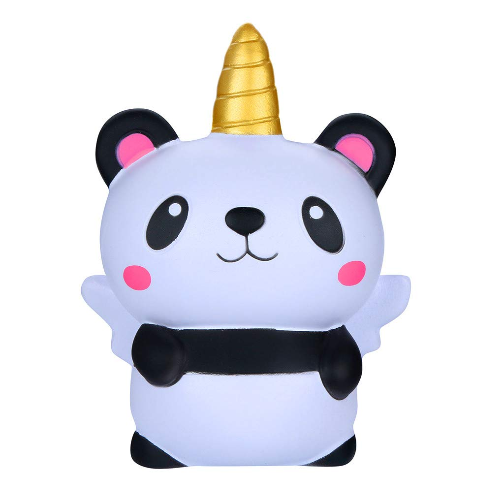 Denzar Stress Relief Toy, Kawaii Squishies Cartoon Panda Angel Slow Rising Cream Scented Stress Relief Toy for Kids Adults