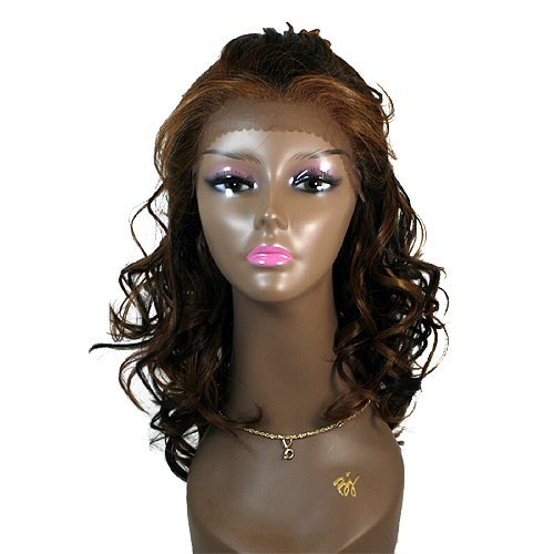 BEVERLY JOHNSON Lace Front Wig JOANNA - Color #1B - Off Black -