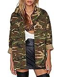 HAOYIHUI Women's Camouflage Lightweight Long Sleeve Outwear Jacket Coat(XXL,Army Green)