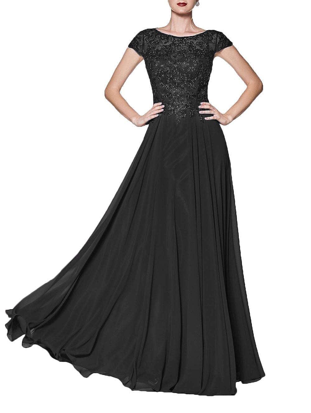 Black Wanshaqin Women's Illusion Neckline Jeweled Waist Long Evening Gown Prom Formal Dress Bridesmaid Gown