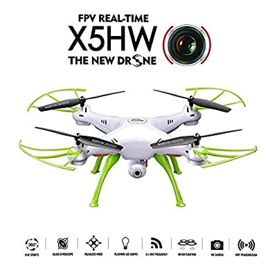 GoolRC SYMA X5HW Wifi FPV Drone 2.0MP HD Camera RC Quadcopter with 360° Eversion Headless Mode High Hold Mode Function by GoolRC