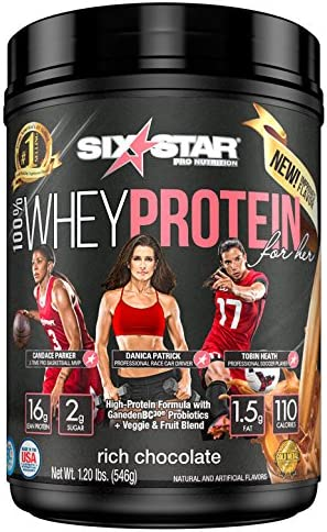 Six Star 100 Whey Protein for Her Powder, Whey Protein Isolate, Rich Chocolate, 1.2 pounds