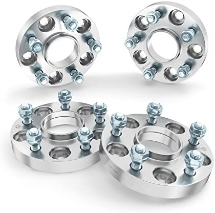 """25MM Silver Hubcentric Wheel AdaptersLincoln 5x13587.114x2.0 1/"""""""
