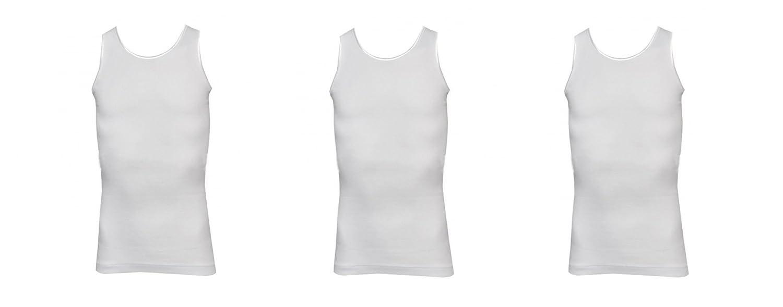 3 canotte spalla larga bimba//ragazza puro cotone NAVIGARE art 29002 bianco