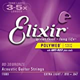 Elixir 11000 Polyweb 80/20 Bronze Acoustic Strings