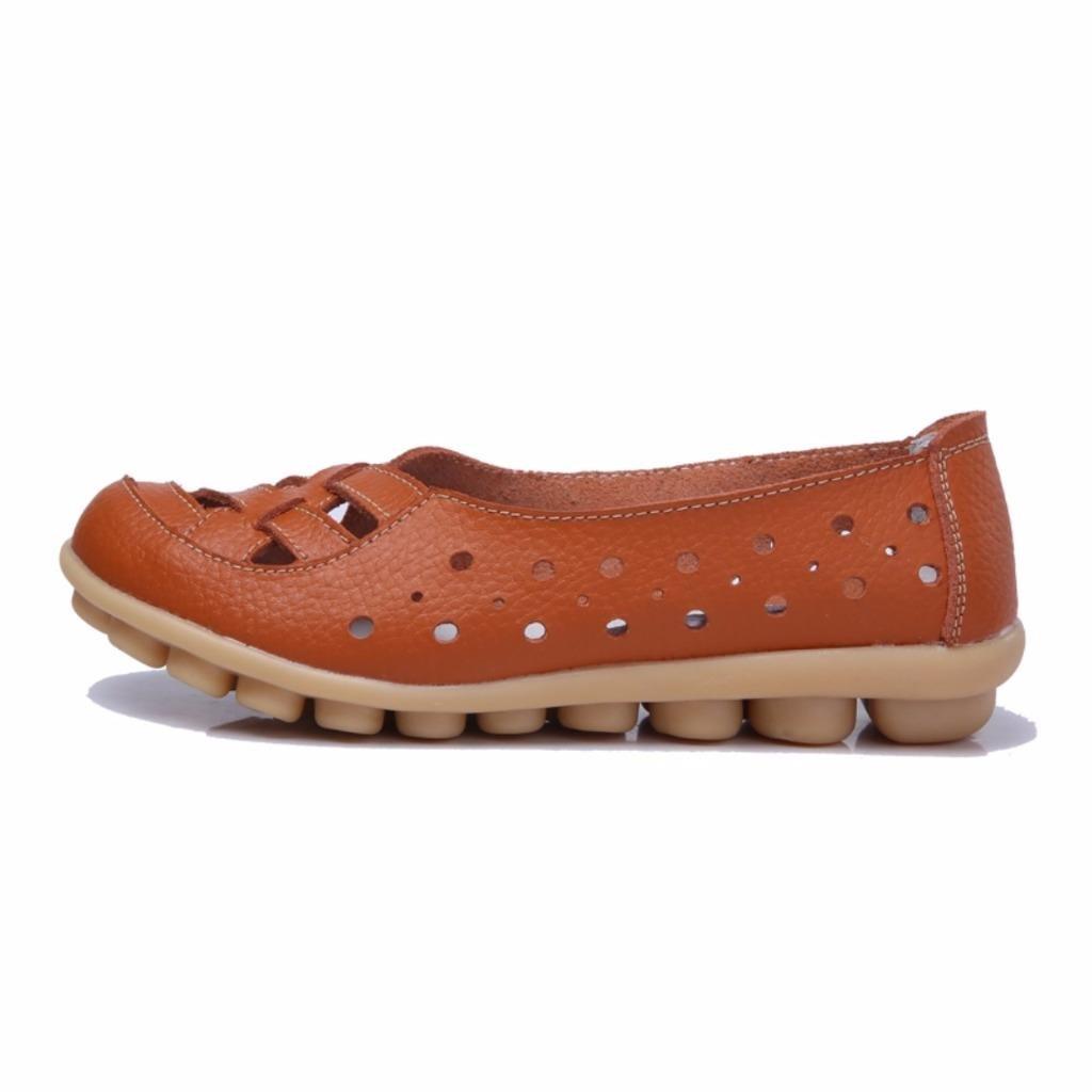 ZQ YYZ Zapatos de mujer - Tac¨®n Plano - Mocas¨ªn / Punta Redonda / Punta Cerrada - Planos - Casual - Ante - Azul / Amarillo / Rosa / Morado , blue-us6 / eu36 / uk4 / cn36 , blue-us6 / eu36 / uk4 / cn