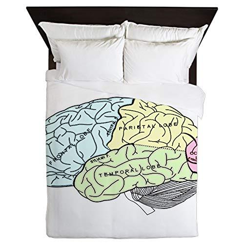 CafePress Dr Brain Lrg Queen Duvet Cover, Printed Comforter Cover, Unique Bedding, Microfiber
