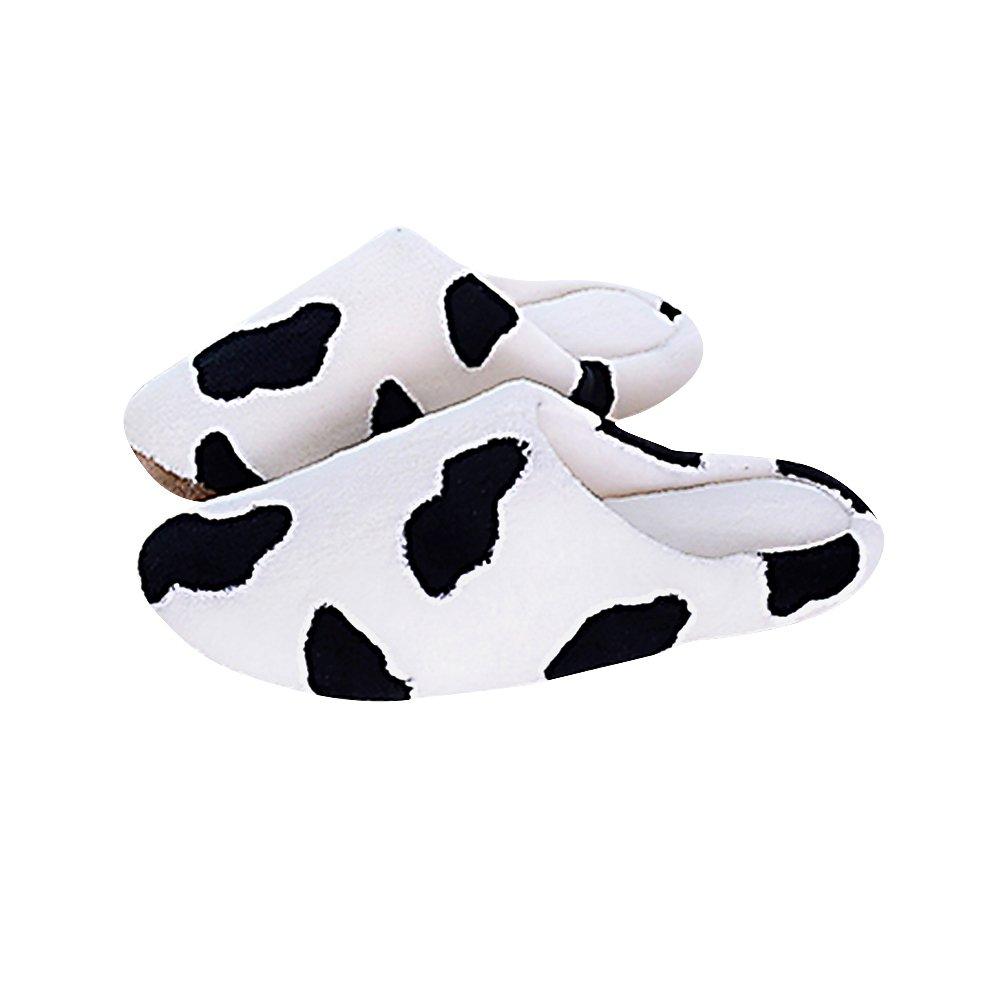 Cosanter pantofole m donne latte mucche spot flanella Sleep scarpe per l' inverno indoor