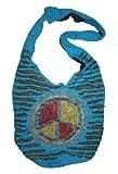 SJ 02 Circular Peace Purse Tote Bohemian Gypsy Bag (Turquoise)