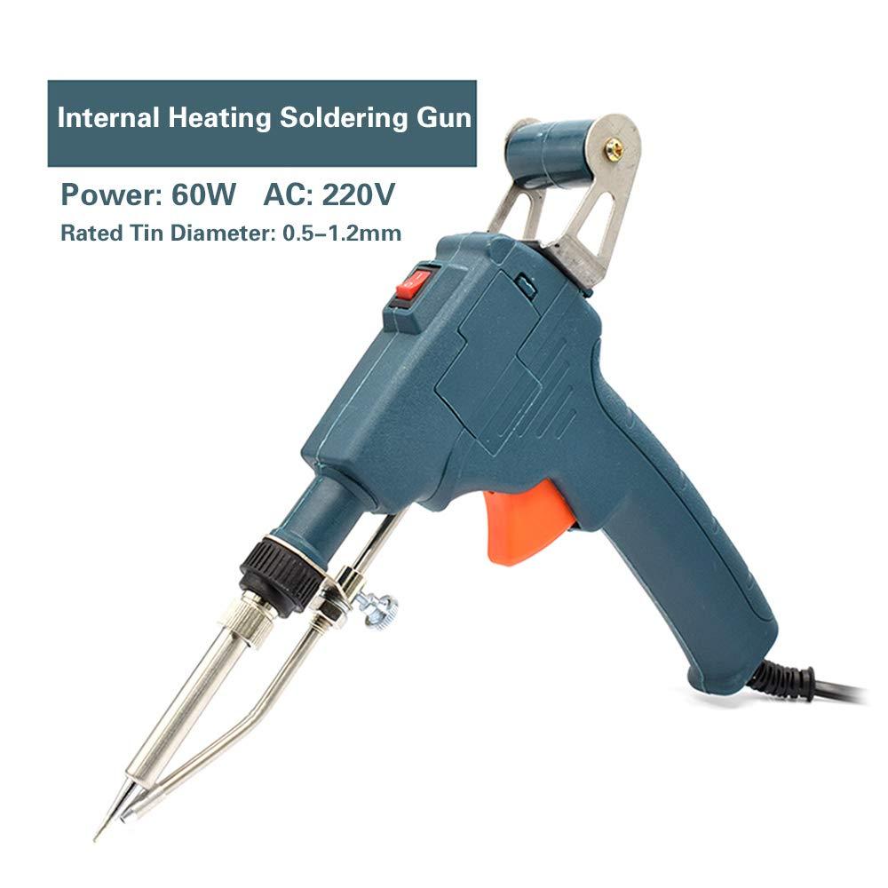 schnelles Aufheizen verstellbar elektrisches Thermometer manuell interne W/ärme KKmoon 60 W L/ötkolben Set f/ür L/ötmaschine