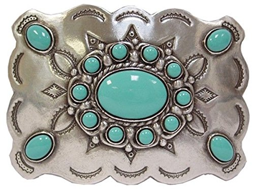 Western Cowboy/Cowgirl Rodeo Decor Sky Blue Faux Turquoise Buckle