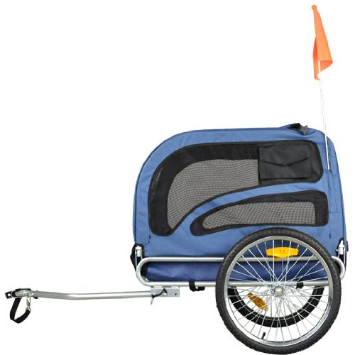 Buy Orignial Doggyhut Large Pet Bike Trailer Dog Bicycle Carrier Blue 6030202 (online)