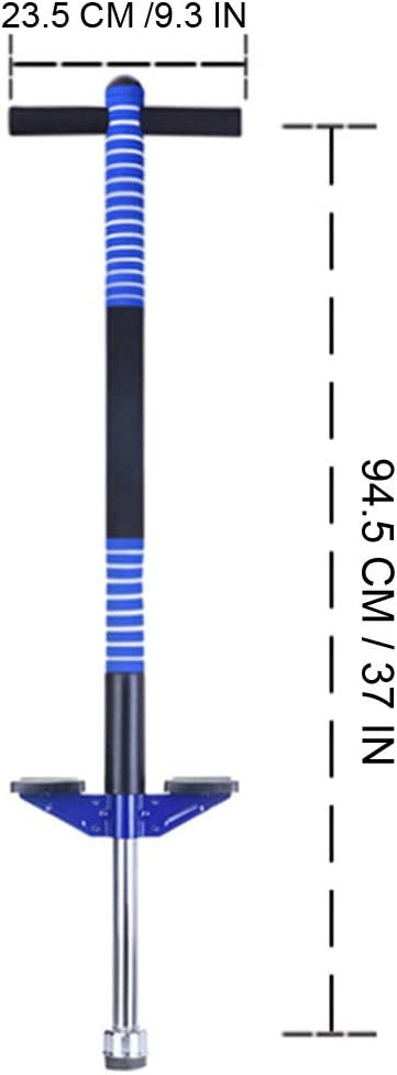 Pogo Stick,Foam Pogo Stick with Comfortable /& Safe Rubber Hand Grips Jump Balance Sports Trainer Outdoor Sports Blue