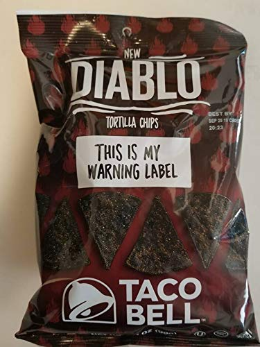 Taco Bell Diablo TortillaChips Limited Edition 3.5 oz