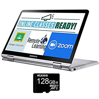 2021 Samsung Chromebook 12.2 Inch Touchscreen 2-in-1 Laptop| FHD 1200P Display| Intel Celeron 3965Y 1.5 GHz| 4GB RAM| 64GB eMMC| Digital Pen| Chrome OS + NexiGo 128GB MicroSD Card Bundle