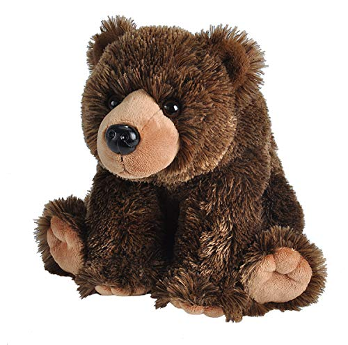 Wild Republic Grizzly Bear Plush, Stuffed Animal, Plush Toy, Gifts for Kids, Cuddlekins 12 Inches